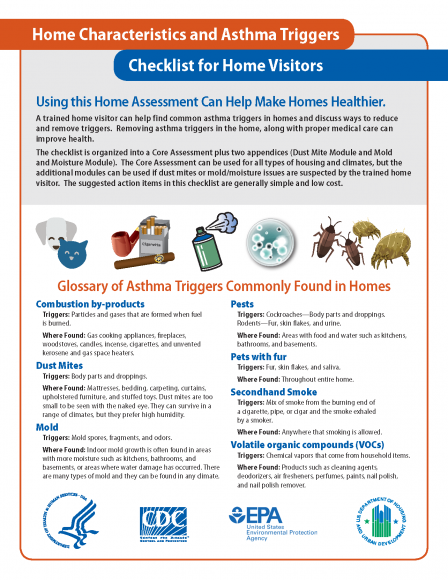 image of cover for the asthma home environments checklist