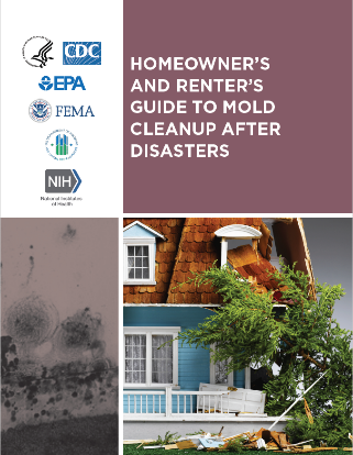 Cover of homeowner-renter guide mold cleanup afte flood