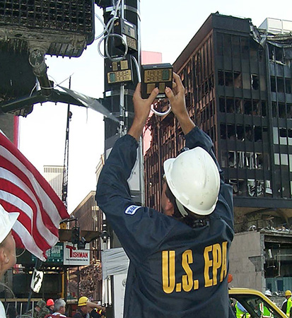 Air monitoring after 9/11 attacks.