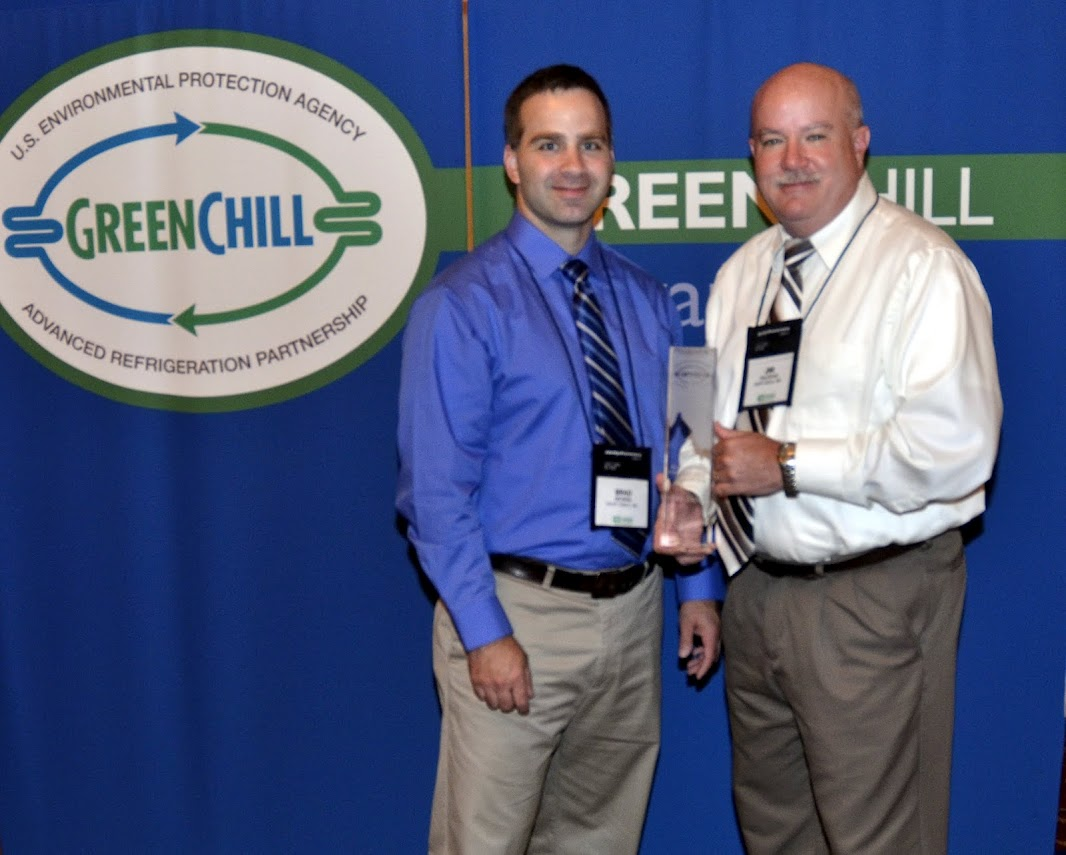Giant Eagle accepts an award from GreenChill for having the Best Partner Emissions Rate