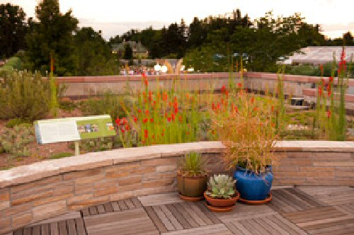 Denver Botanic Gardens first publicly accessible green roof with nation plants to the state of Colorado.