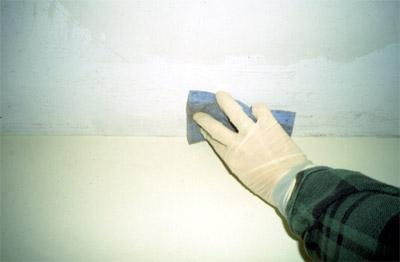 Damp wiping surfaces with water and a small amount of detergent.