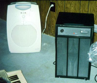 Two examples of dehumidifiers.