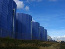 Anaerobic digesters in field