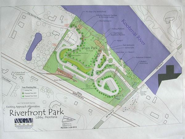 Map of Riverfront Park