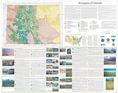 Level IV Ecoregions of Colorado--poster front side