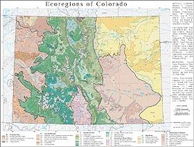 Level III and IV Ecoregions of Colorado--page size