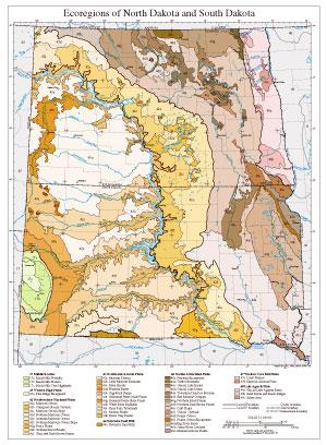 Level III and IV Ecoregions of North Dakota and South Dakota--page size