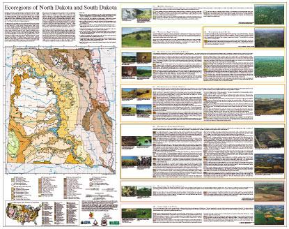 Level IV Ecoregions of North Dakota and South Dakota--poster front side