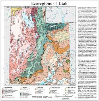 Level III and IV Ecoregions of Utah