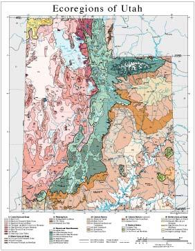 Level III and IV Ecoregions of Utah--page size