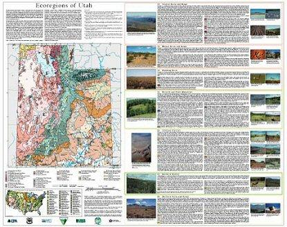 Level IV Ecoregions of Utah--poster front side