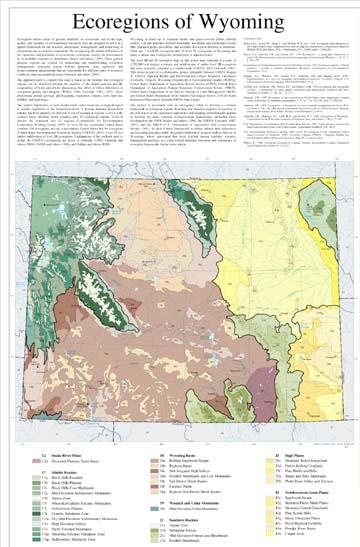 Level III and IV Ecoregions of Wyoming