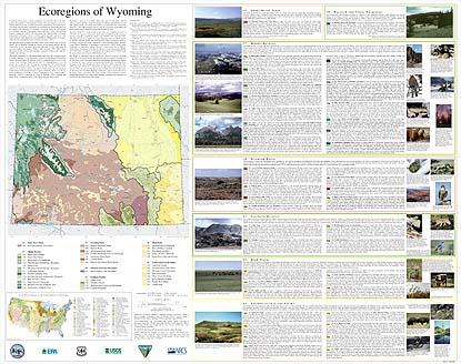 Level IV Ecoregions of Wyoming--poster front side