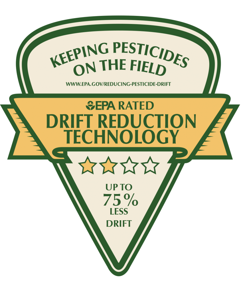 Keeping Pesticide on the Field - Two star logo