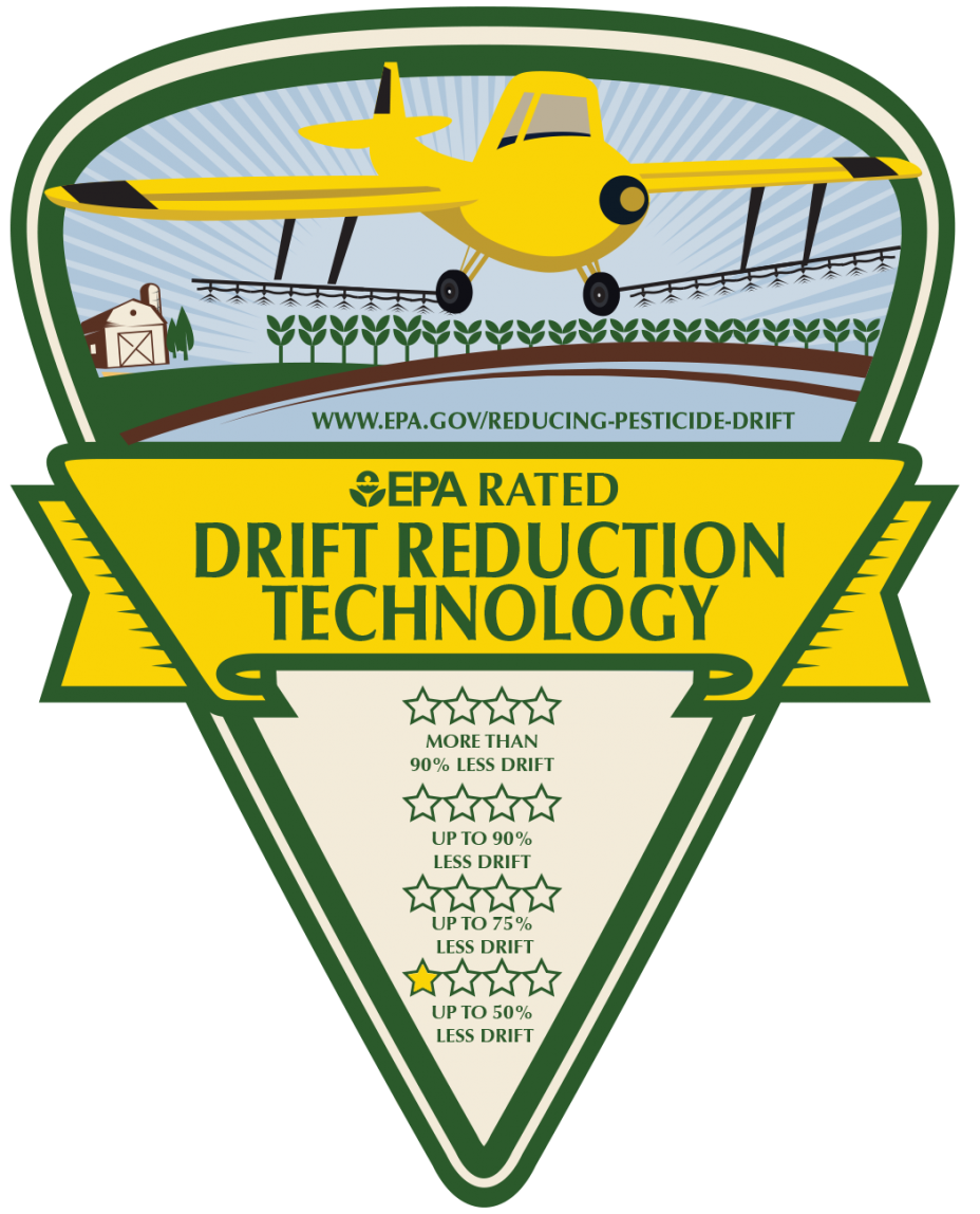 One star rating logo for aerial application