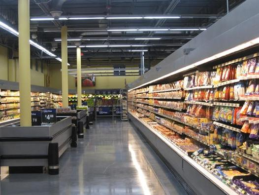 Image of the interior of the new Walmart market built as part of redevelopment of the KCSS site following cleanup