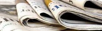 Photo of newspapers depicting news area