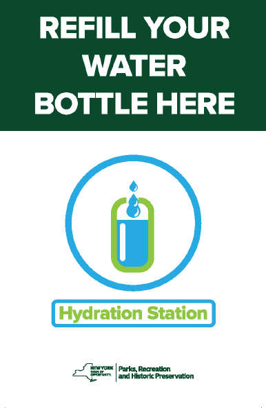Hydration station refill poster.