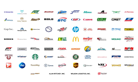 This is a thumbnail image linking to a full size collage of logos from various companies that received the 2020 SmartWay Excellence Award.