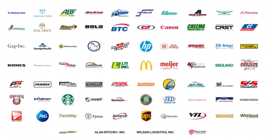 This photo shows a variety of logos from companies that have received 2020 SmartWy Excellence Awards.