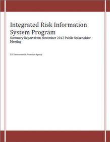 Cover of the Final Summary Report from the IRIS Stakeholders Engagement Meeting Nov 2012