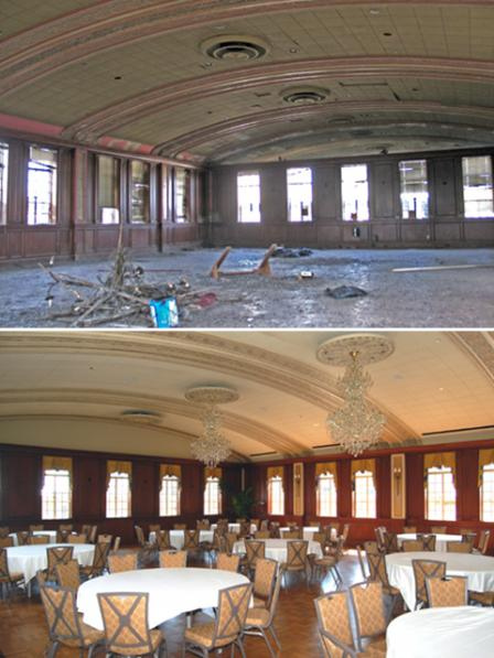 Skirvin Hotel, Oklahoma City, Oklahoma, Before and After Revitalization