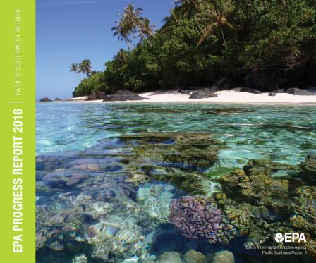 Coral reefs along the shore of Ofu in American Samoa