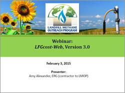 LFGcost-Web, Version 3.0 Webinar Presentation Screenshot