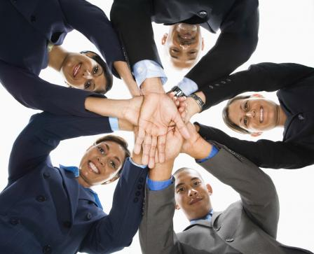 Picture of businesspeople in a huddle