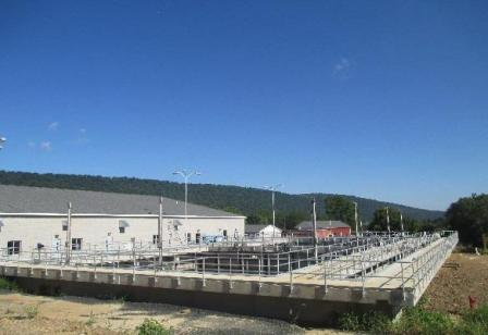 Finished construction at the new Romney Wastewater Treatment Plant