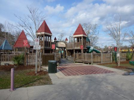 Slidell community playground at Heritage Park