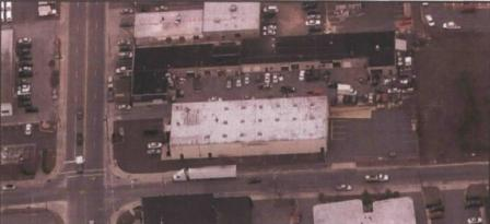 An aerial view of the Preferred Plating Corp. site