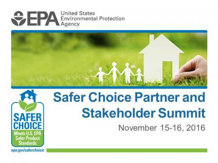 Safer Choice Partner and Stakeholder Summit intro slide