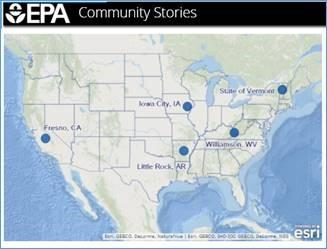 Screenshot of map from Community Stories story map