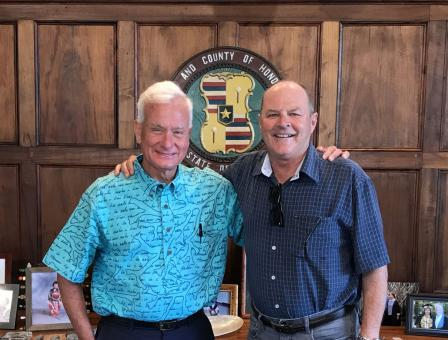 Mayor of Honolulu Kirk Caldwell (left) and Regional Administrator Mike Stoker
