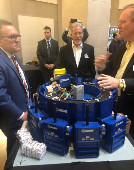 Administrator Wheeler tours booths at the America Recycles Innovation Fair.