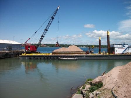 Photo of 26,000 cubic yards of contaminated sediment were removed from St. Marys River AOC
