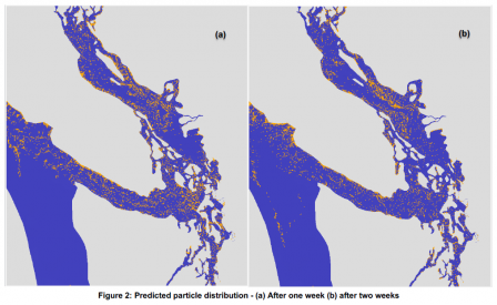 Salish Sea Predicted Particle Distribution Model