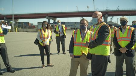 EPA Administrator Wheeler tours the Maine Port Authority Brownfields site