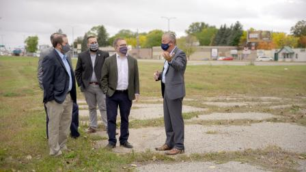 Administrator Wheeler tours Brownfields sites in St. Cloud, Minn with Mayor Dave Kleis and Regional Administrator Thiede