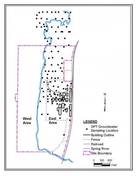 image of Figure 7 DPT groundwater sample locations
