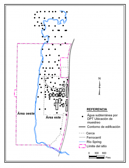 image of Figure 7 DPT groundwater sample locations spanish final 12-4-20