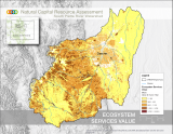 map of the South Platte watershed showing the dollar value of acres per year across the watershed.