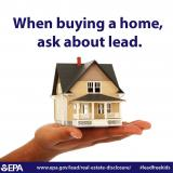 When Buying a Home, Ask About Lead Infographic (White Background Picture)