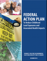 Image of the cover of the report Federal Action Plan to Reduce Lead Exposures and Associate Health Risks