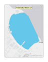 Map of Avalon Bay Harbor no-discharge zone