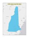 Map of the no-discharge zone established for New Hampshire waters except tidal waters