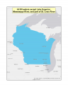 Map of no-discharge zone for all Wisconsin waters except Lake Superior, Mississippi River, and part of St. Croix River