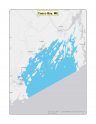 Map of Casco Bay no-discharge zone